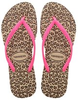 Havaianas Womens Sandals Slim Animals Sand Grey Pink Sand Grey Pink