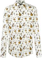 Dolce & Gabbana musical instrument print shirt - men - Cotton - 40