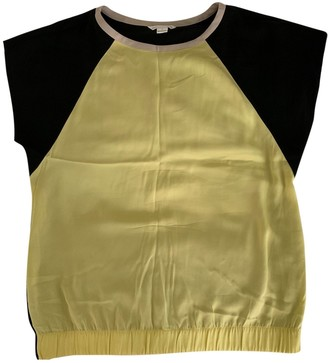 Diane von Furstenberg Yellow Silk Top for Women