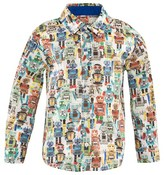 Paul Smith Off White Robot Print Shirt