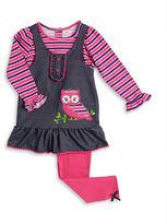 Nannette Baby Girls Mock Layered Dress and Leggings Set