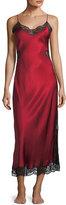 Josie Natori Camilla Lace-Inset Silk Nightgown