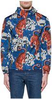 Gucci Blue/sand/orange Bengal Hooded Jacket