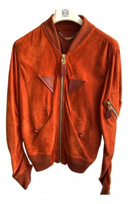 Loewe Orange Suede Leather jackets