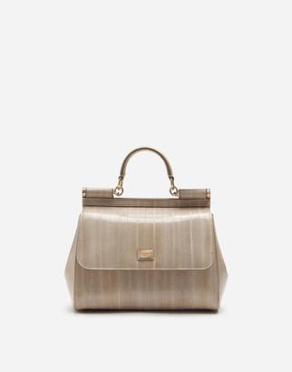 Dolce & Gabbana Medium Sicily Bag In Eel