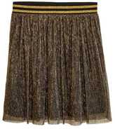 H&M Pleated Skirt - Gold-colored - Ladies