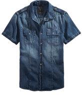 GUESS Men's Denim Military Shirt