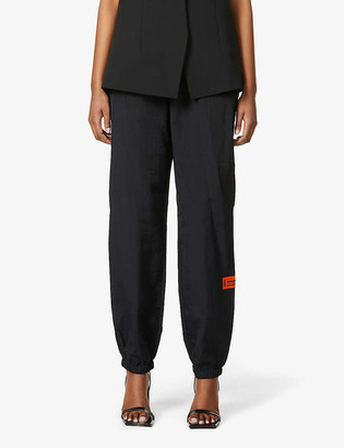 Heron Preston Relaxed-fit mid-rise shell trousers