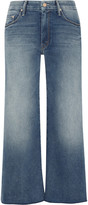 Mother The Roller Cropped Mid-rise Wide-leg Jeans - Mid denim