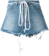 Off-White drawstring denim shorts - women - Cotton/Polyester - 27