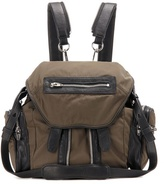 Alexander Wang Marti Mini Leather-trimmed Backpack