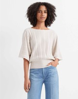 Club Monaco Rib-Waist Dolman Sweater