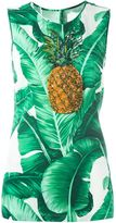 Dolce & Gabbana sequinned pineapple printed top