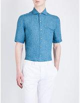 Corneliani Textured Relaxed-fit Linen Shirt