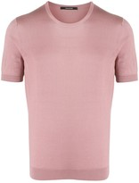Tagliatore Short-Sleeved Silk Pullover