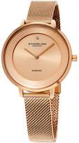 Stuhrling Original Womens Rose Goldtone Strap Watch-Sp15765