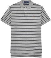 Polo Ralph Lauren Grey Striped Pima Cotton Polo Shirt