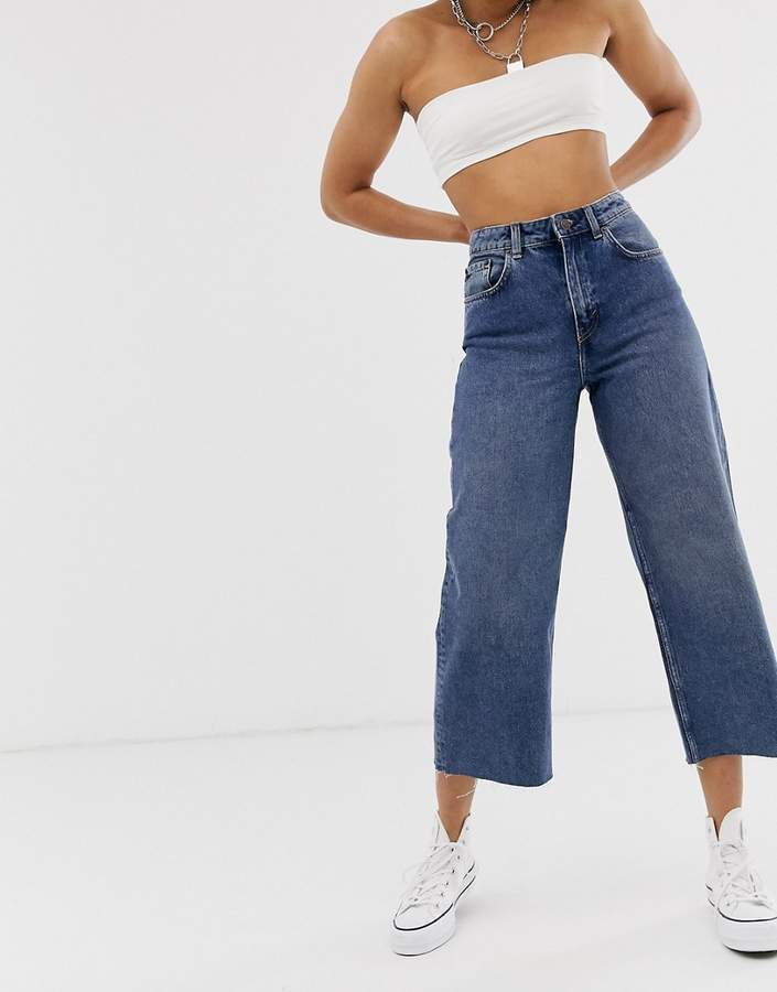 Cheap Monday Ally cropped wide leg jeans