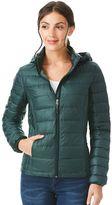Women's Heat Keep Hooded Solid Down Puffer Jacket