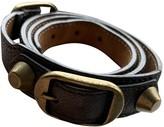Balenciaga Grey Leather Bracelets