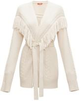 Altuzarra Trailblazer Fringed Cable-knit Cardigan - Womens - Ivory