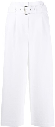 MICHAEL Michael Kors Belted Crepe Cropped Trousers