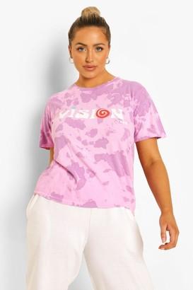 boohoo Plus Acid Tie Dye Vision Short Sleeve T-Shirt
