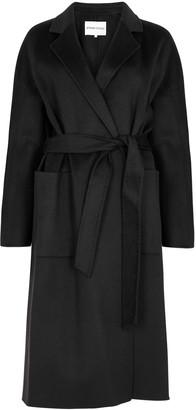 Stand Studio Claudine Black Belted Wool-blend Coat