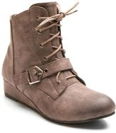Kisses by 2 Lips Too Too Scope Women's Wedge Ankle Boots