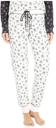 PJ Salvage Peace Love Joggers (Ivory) Women's Pajama