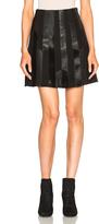 Derek Lam 10 Crosby Patchwork Leather Skirt
