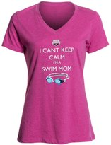 USA Swimming Women's Can't Keep Calm VNeck T-Shirt - 8126313