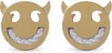 Ruifier Friends Wicked yellow gold cord stud earrings