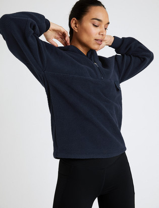 Marks and Spencer Half Zip Hooded Fleece