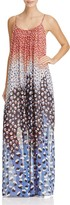 Nic+Zoe Blue Dahlia Abstract Dot Maxi Dress
