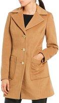 MICHAEL Michael Kors Wool Single Breasted Notch Collar Reefer Coat