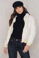 Glamorous Teddy Collar Jacket