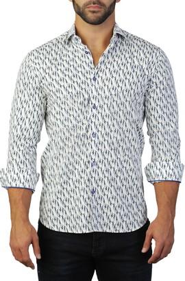 Maceoo Fibonacci Lady Print Tailored Fit Dress Shirt