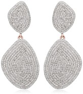 Monica Vinader Nura Double Teardrop Cocktail Diamond earrings