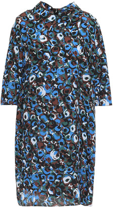 Marni Printed Silk-crepe Mini Dress