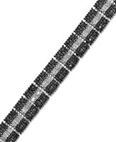 Black Diamond Victoria Townsend White Diamond (1 ct. t.w.) and Accent Bracelet in Sterling Silver-Plated Brass