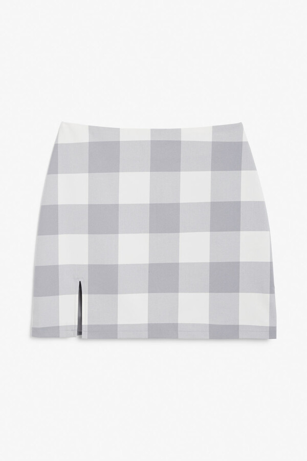 Monki Plaid mini skirt