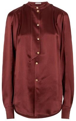 REJINA PYO Marianna Silk Collarless Shirt