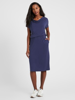 Banana Republic Sandwash Cowl-Neck Dress