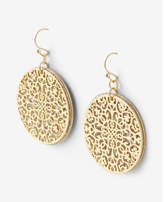 Express Round Glitter Filigree Drop Earrings
