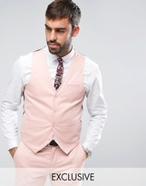 ONLY & SONS Super Skinny Vest In Cotton Sateen