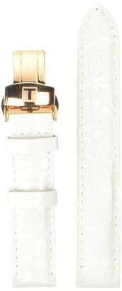 Tissot Leather Calfskin White Watch Strap 16mm Width (Model: T600034264)
