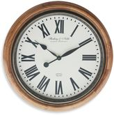 Sterling & Noble Roman Numeral Wall Clock in Brown