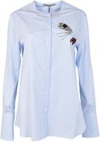 Ermanno Scervino Collarless Striped Shirt
