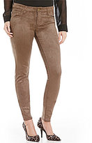 KUT from the Kloth Mia Toothpick Faux-Suede Skinny 5-Pocket Pant